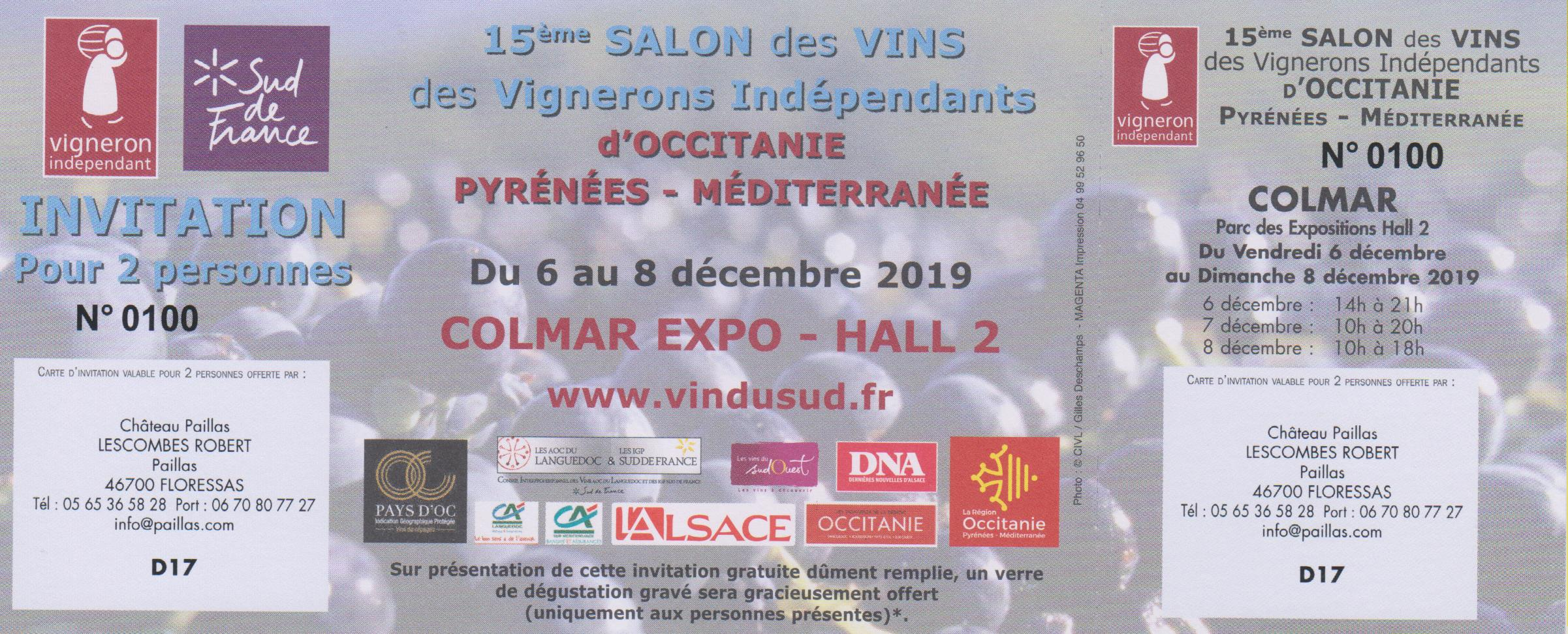 Invitation salon de Colmar